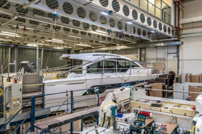 La fábrica de Fairline Yachts en Oundle