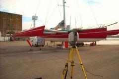 Medición láser de un trimarán por NautiSCAN 3D