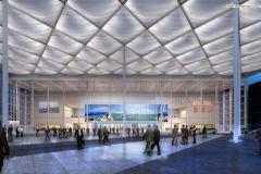 La nueva entrada sur del centro de exposiciones de Düsseldorf