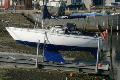 La plataforma de carenado del puerto deportivo de Binic