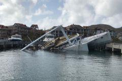 Naufragio en San Martín después del paso del huracán Irma