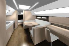 El interior clásico diseñado por SYCI para una reparación de barco