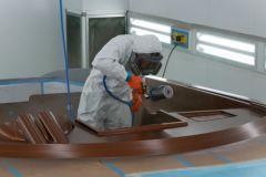 La cabina de pintura del sitio Frauscher
