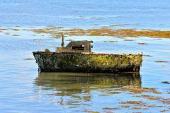 Barco de placer en desuso