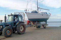 Salida de agua en el puerto seco Pierre à l'oeil en Paimboeuf