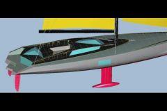 Proyecto de yate de alquiler para los Mares del Sur diseñado por el arquitecto naval Luc Bouvet