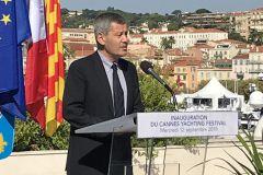 Yves Lyon Caen en la inauguración del Festival Náutico de Cannes