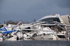 Los buques dañados después del paso del ciclón Irma