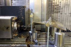 La pala de la hélice se está mecanizando en France Hélices