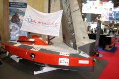 El velero accesible para discapacitados Mini Splash expuesto en el Área de Innovación Náutica en 2017