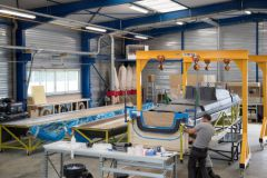 Los talleres del astillero Magma Composites en Questembert
