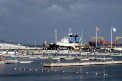 Un puerto deportivo casi vacío