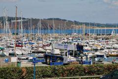 El puerto deportivo de Morgat