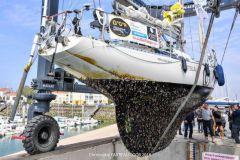 El casco de Tapio Lehtinen al final de su vuelta al mundo en vela (Golden Globe Race)