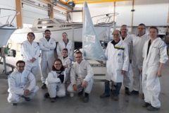 Visita organizada por el Campus des Métiers et des Qualifications du nautisme en Pays de la Loire (Campus de las profesiones y cualificaciones náuticas en Pays de la Loire)