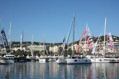 El catamarán en el Festival de Cannes de navegación de barcos