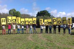 Eslogan de los activistas contra la marina de Brétignolles sur mer