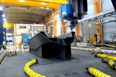 Impresión en 3D del barco 3Dirigo en la impresora 3D a gran escala de la Universidad de Maine