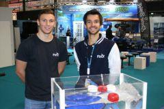 Harold Guillemin (derecha), fundador del motor FinX y sus propulsores eléctricos