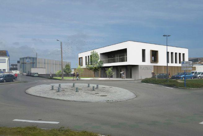 Imagen de la futura sede de Plastimo en Lorient