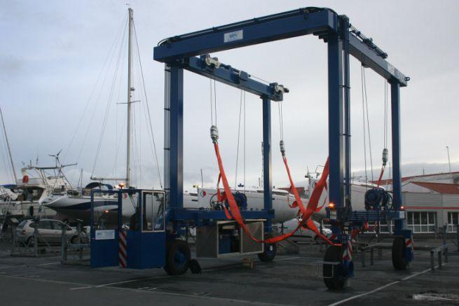Nuevo ascensor de barcos en el Puerto de los Mínimos en La Rochelle